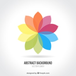 Fondo de flor abstracta