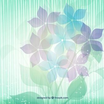 Fondo de flores abstractas