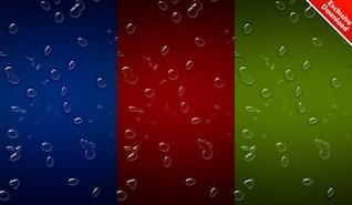 fondo de gotas de agua realistas con colores incluidos PSD
