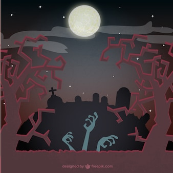 Fondo de Halloween con zombies