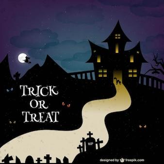 Fondo de Halloween truco o trato
