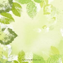 Fondo de hojas en estilo estampado