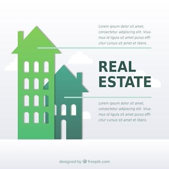 Fondo de infografía en flecha de propiedad