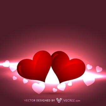 Fondo de los corazones dulce