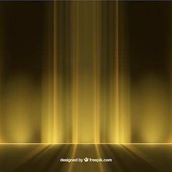 Fondo de luces abstractas en color amarillo