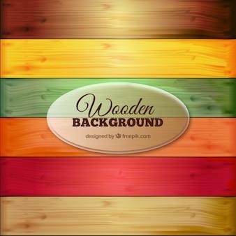 Fondo de madera colorida
