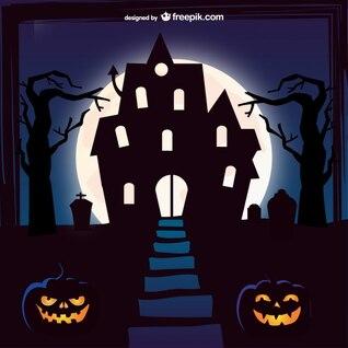 Fondo de mansión para Halloween
