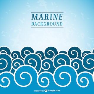 Fondo de mar con olas