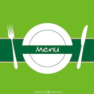 Fondo de menú de restaurante