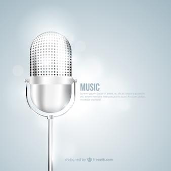 Fondo de micrófono metálico