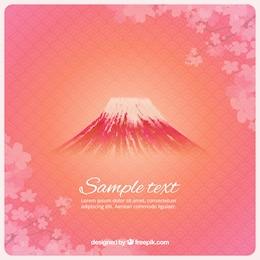 Fondo de monte Fuji