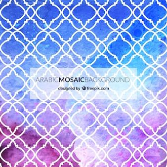 Fondo de mosaico árabe