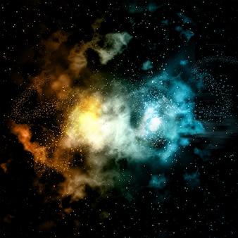 Fondo de nebulosa colorida