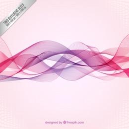 Fondo de ondas abstractas en tonos rosas y morados
