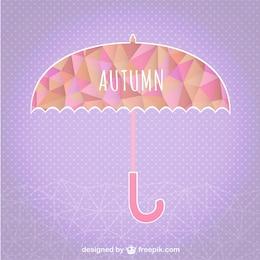 Fondo de otoño con paraguas
