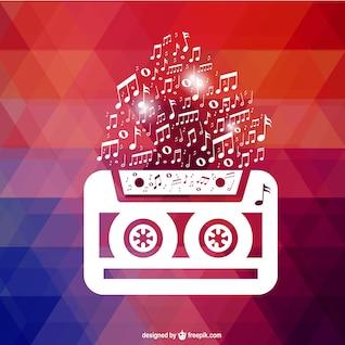 Fondo de pantalla retro con cassette