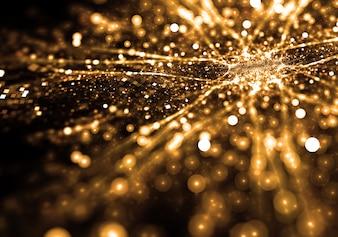 Fondo de partículas doradas brillantes