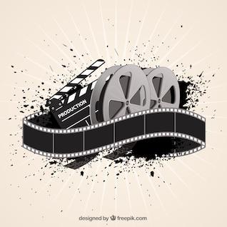 Fondo de película de cine en estilo abstracto