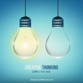 Fondo de pensamiento creativo