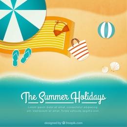 Fondo de playa para vacaciones de verano