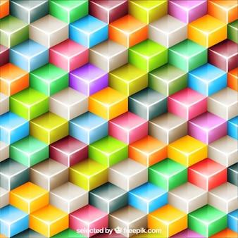 Fondo de polígonos de colores