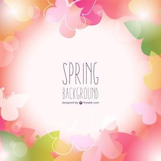 Fondo de primavera con pétalos