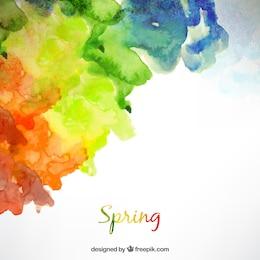 Fondo de primavera en estilo acuarela