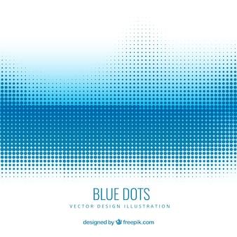 Fondo de puntos azules