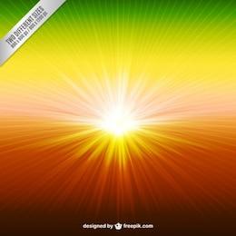Fondo de rayo solar en estilo colorido