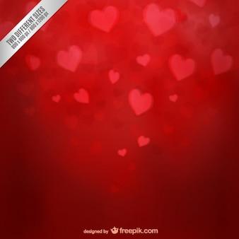 Fondo de San Valentín con corazones