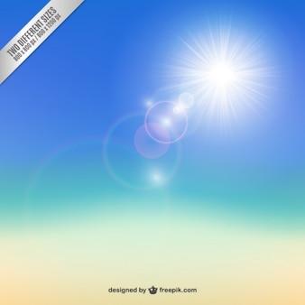 Fondo de sol brillante