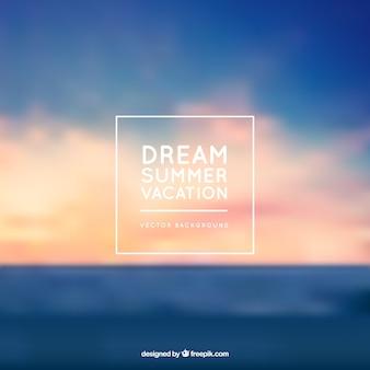 Fondo de sueño de vacaciones de verano