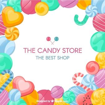 Fondo de tienda de dulces