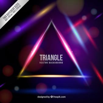 Fondo de triángulo de neón