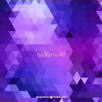 Fondo de triángulos abstractos en tonos morados