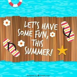 Fondo de verano divertido