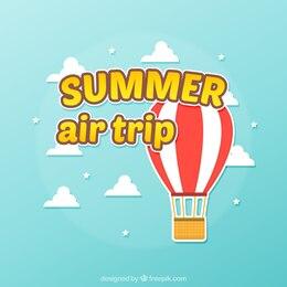 Fondo de viaje aéreo de verano