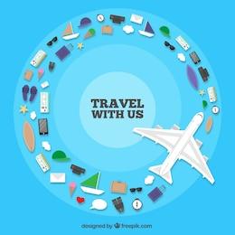 Fondo de viaje con nosotros