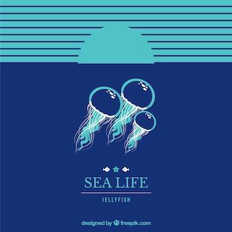 Fondo de vida del mar