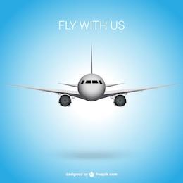 Fondo de vuela con nosotros