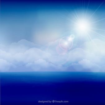 Fondo del cielo soleado