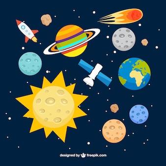 Fondo del sistema solar
