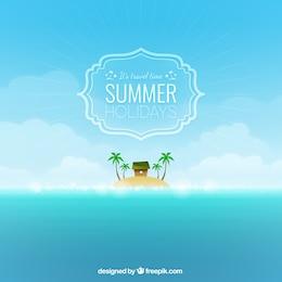 Fondo del tiempo de viaje para el verano