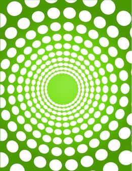 Fondo del túnel verde punteada