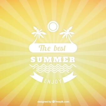 Fondo del verano con suburst
