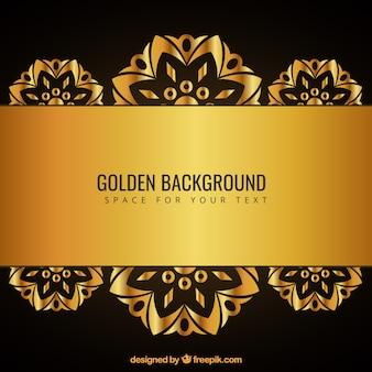 Fondo dorado con adornos
