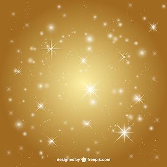 Fondo dorado con estrellas