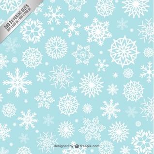 Fondo estampado de copos de nieve