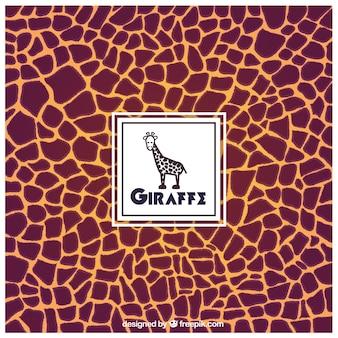 Fondo estampado de la jirafa