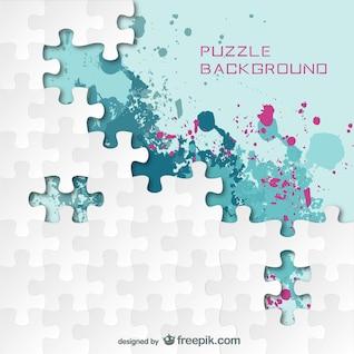 Fondo estilo puzle con manchas de pintura